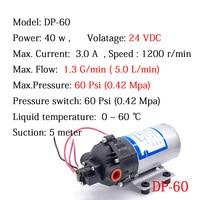 Mini High Pressure Water Pump DP 60 24V DC 40W 5L/min 4.2 Bar Automatic Switch Diaphragm Pumps Self Suction Pump Car Washing