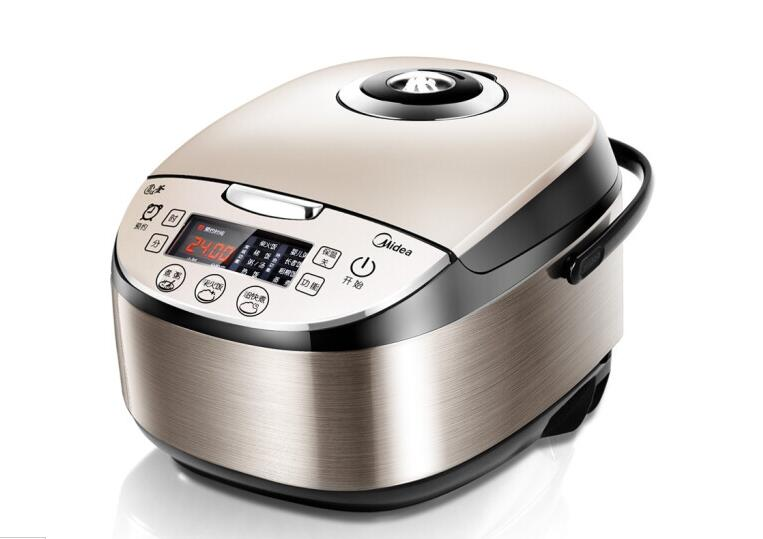 Midea WFS4037 4L Household Intelligent Electric Rice Cooker 220-230-240v Appointment: 0-24 Hours Turbo Spill Metal Brushed Body
