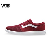 Original  Vans New Arrival White and Red Color Low-Top Men's Skateboarding Shoes Sport Shoes Sneakers