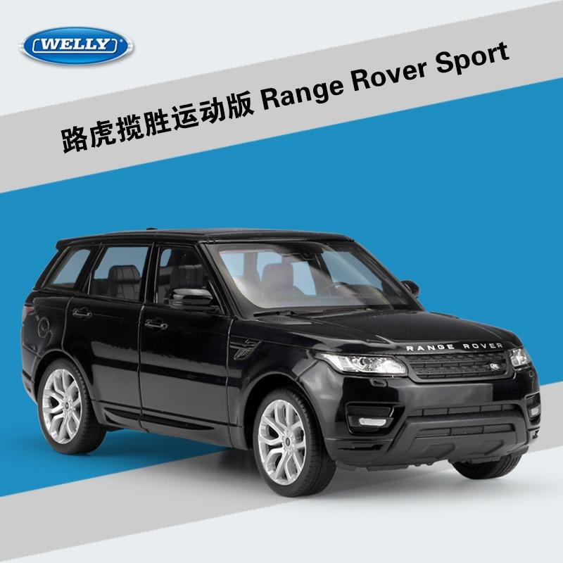 WELLY 1:24 Simulator i Lartë Metal Aurora Land Range Rover Sport SUV - Makina lodër për fëmije - Foto 3