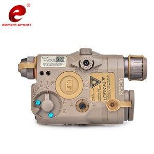 Image 4 - Eleman Airsoft PEQ taktik el feneri IR yeşil lazer Airsoft ışık IR WMX200 kızılötesi silah el feneri silahları ışık PEQ15 EX424