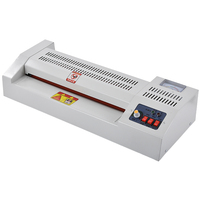 320A Level Adjustable Temperature Metal Laminator Hot and Cold A3 Photo A4 Laminating Machine for Office/Home 4 Rollers 320mm