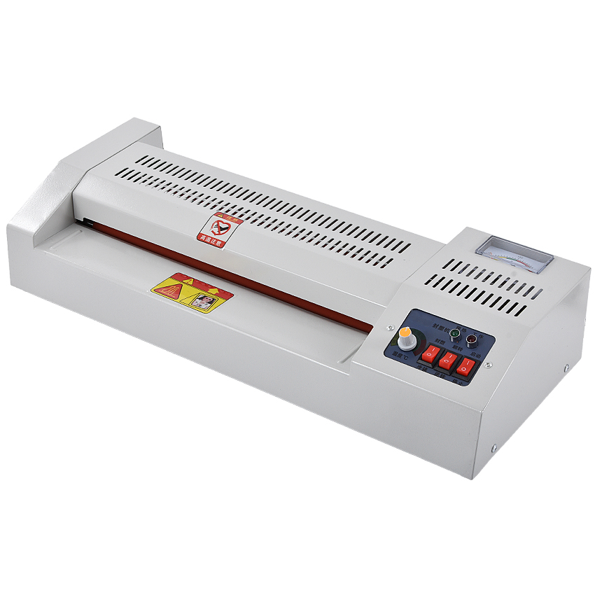 320A Seviye Ayarlanabilir Sıcaklık Metal Laminar Sıcak ve Soğuk A3 Fotoğraf A4 Laminasyon Makinesi için Ofis/Ev 4 Silindirler 320mm