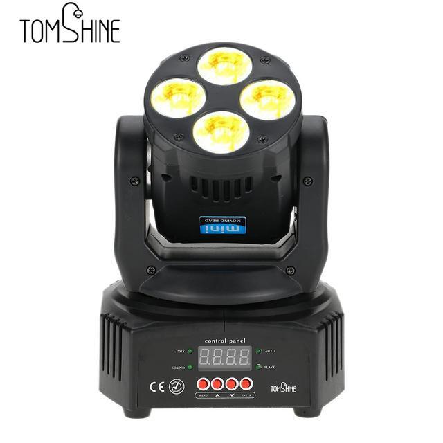 tomshine  Tomshine 60W 4 LED RGBW Washing Effect Moving Head Stage Light AC90 ...