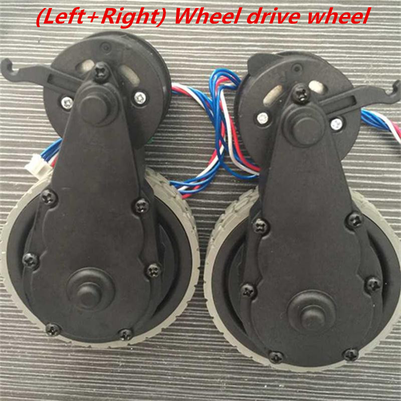 (Left +right) wheel vacuum cleaner robot for Ecovacs Deebot DT85/DT83/ BFD-YV-GW (day e)/ BFD-YT-US (core e) replacement 1x robot vacuum cleaner parts front castor wheel steering wheel replacement for ecovacs dt85 dt83 tcr660 tcr665