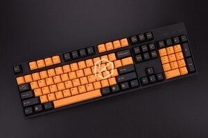 Image 4 - Taihao teclas de doble disparo pbt para juegos, Teclado mecánico para juegos diy, color de miami diablo, negro, naranja, cian, arco iris, gris claro