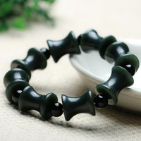 Fine Jewelry Natural HETIAN Qing yu Bracelets Carved Bracelets brave amulet Bangles Gift for Men's jewelry/