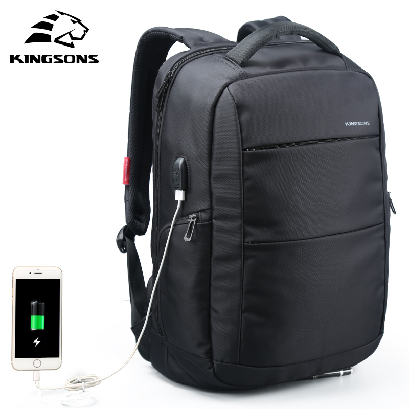 Kingsons External Charging USB Function Laptop Backpack Anti theft Man Business Dayback Women Travel Bag 15