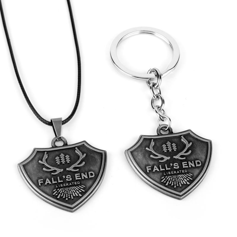 PS4 Game Farry 5 Far Cry 5 Keychain Metal Fall's End Key Ring Holder Rape Chain Colar Pendant Porte Clef Kolye Men Gift Jewelry- image