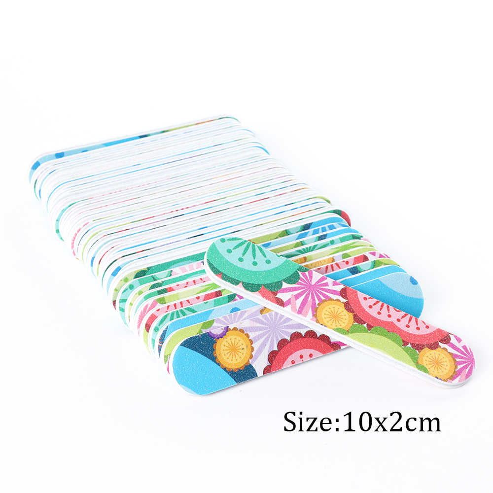 10 pcs Mini Nail Buffer Bestanden Set Sander Papier Spons Blokken Buffing Bloem DIY Manicure Polijstmachine Gereedschap Nail Art Accessoire SAA38