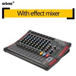 DJ mixer 99 kinds of DSP effects Bluetooth recording mixer 48v phantom power home performance