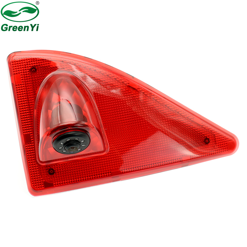 GreenYi Car Brake Light Rear View Camera For Nissan NV400 Renault Master Opel Movano LED IR CCD Parking Reverse Backup Camera new hot special ccd hd nightvision 8 led car rear view reverse backup camera for nissan march renault logan renaults sandero