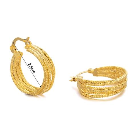 Ethlyn Wholesale 6/Style Women Gold Color Hoop Earrings Jewelry Middle East/Arabic/Ethiopia/African/Kenya/India item E59