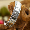 Wholesale 2015 new fashion 100% real 925 sterling silver jewelry bangle bracelet exquisite unique mantra Lucky Men's jewelry 808