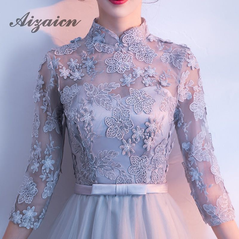 Bridesmaid Dress Elegant 2018 Fashion Girl Traditional Evening Gown Red  Flower Wedding Qipao Lace Chinese Cheongsam Katoen-in Cheongsams from  Novelty ... f34d6d01008d