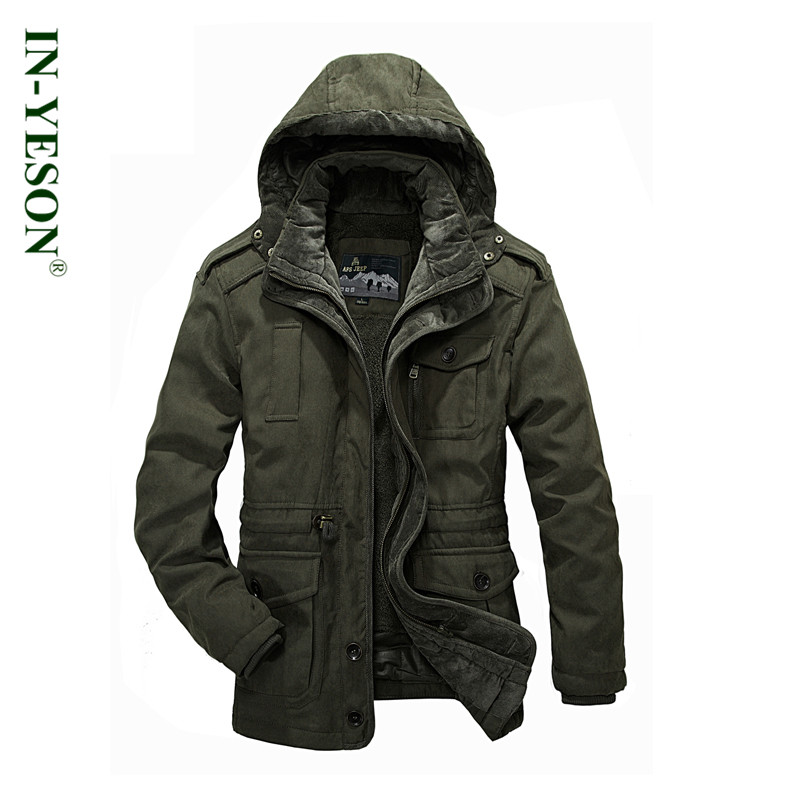 Winter jacket men high quality warm detachable wool liner cotton padded thickening fur parka men brand