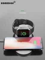 Egeedigi SmartPhone Smart Watch Fashion Portable 2 in 1 10W Wireless Fast Charger For Apple Watch iPhone Samsung XiaoMi Huawei
