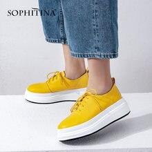 Женские туфли на плоской подошве sophitina натуральная кожа