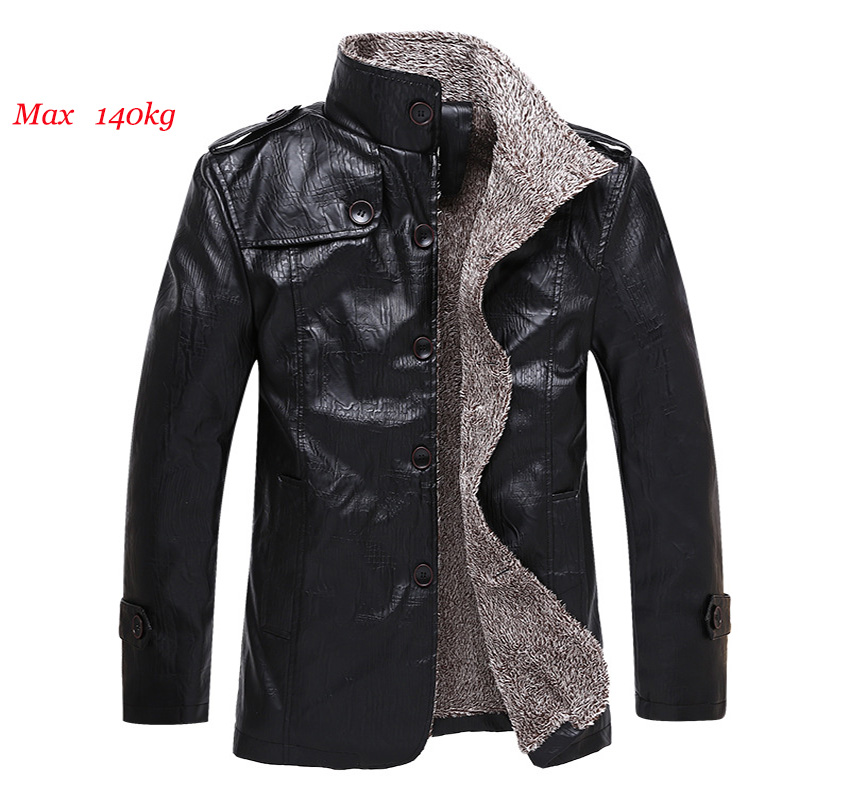 2018 Men leather jacket casual PU leather jacket men's Slim stand collar jacket plus velvet warm Thin jacket Coat ZL70