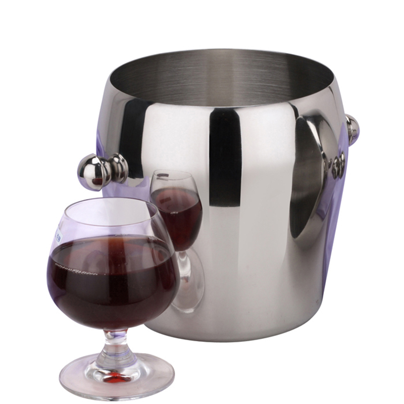 TISION stainless steel ice bucket Champagne Beer Bucket Practical Bar Container Barrel Beer Whisky Wine Cooler Champagne Keg