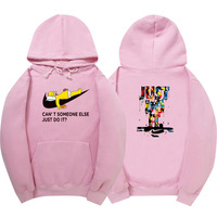 2017 Fashion Long Sleeve Hoodie Sweatshirt Polerones Hombre Pink Black White Hip Hop Just Do It