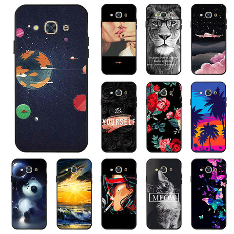 Ojeleye Fashion Black Silicon Case For Samsung Galaxy J3 Pro Cases Anti-knock Phone Cover For Samsung J3 Pro J3110 Covers Pakistan
