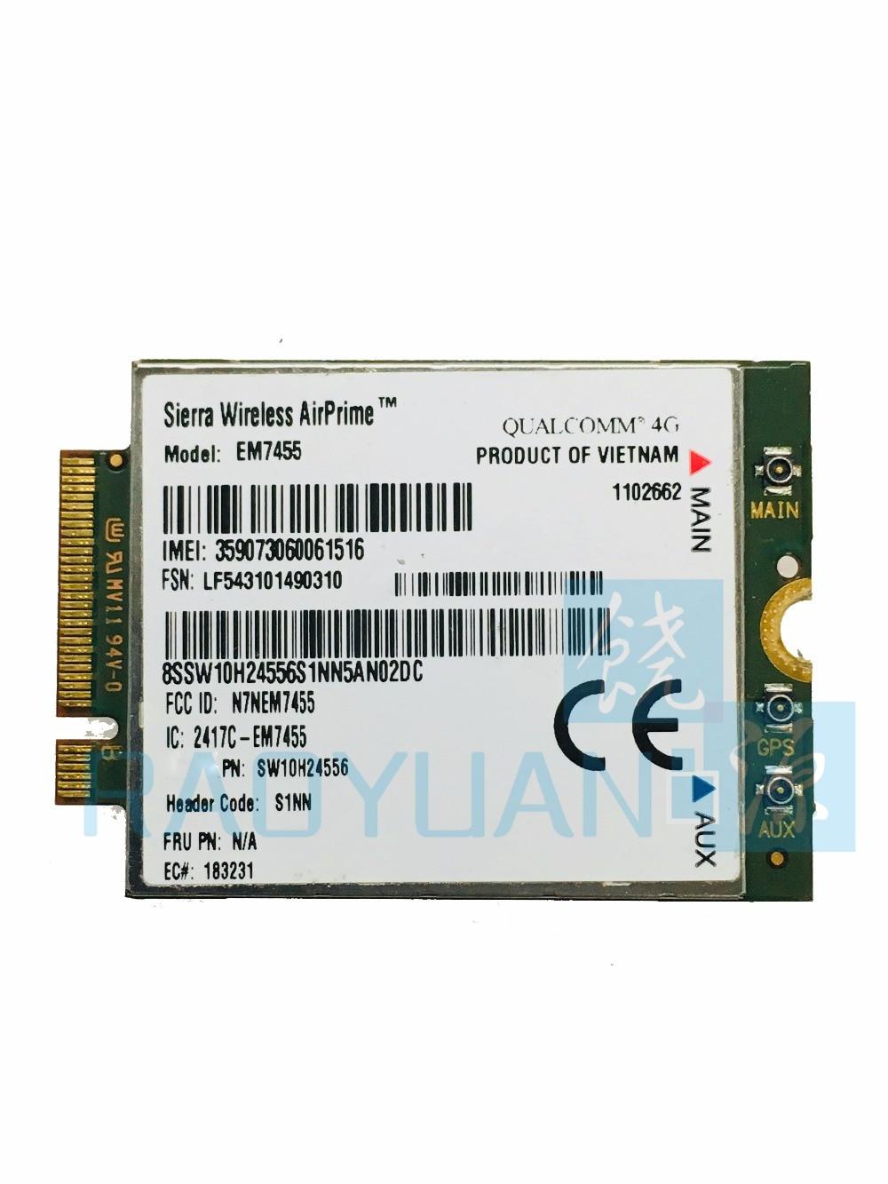 4G LTE WWAN CARD for Sierra Wireless Airprime EM7455 GOBI6000 QUALCOMM FRU:S1NN For Lenovo X270 T470 T470S T470P P51 P71 2017 X1