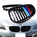 5 series E60 3 Color Grille ABS Front Bumper Grill For BMW E60 E61 2005-2008