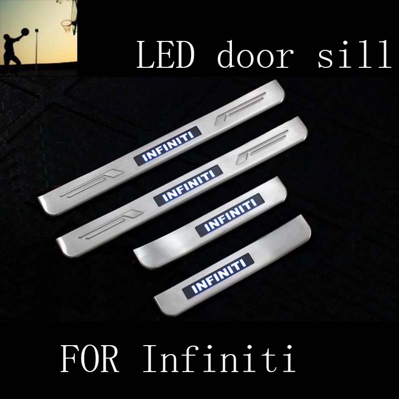 Car-Styling FOR Infiniti FX35 FX50 Q5 QX50 QX60 QX70 stainless steel scuff plate LED door sill Car Styling fx stainless steel motorcycle 230mm