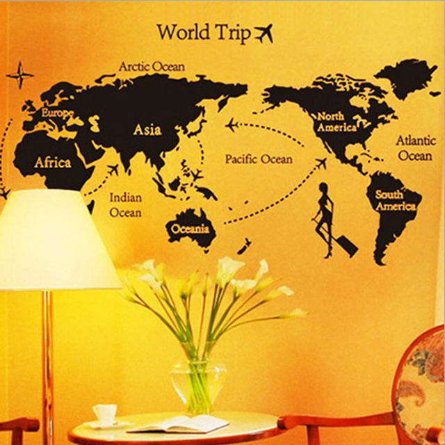 Online shop 1x world map cartoon stickers background decor 1x world map cartoon stickers background decor wallpaper bedroom wedding room decoration kids room wall stickers free shipping gumiabroncs Gallery