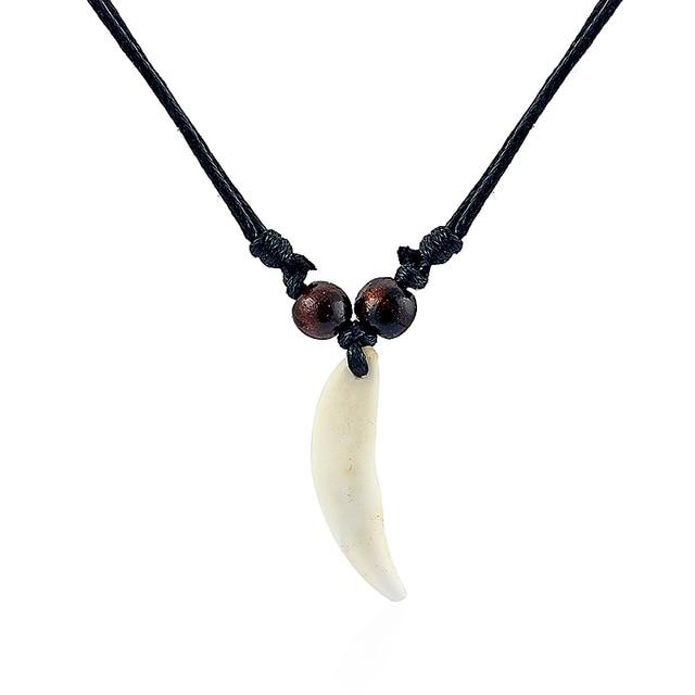 "Black Mini Beads Necklace and  Pendant in Bone 18/"" black//white design pendant"