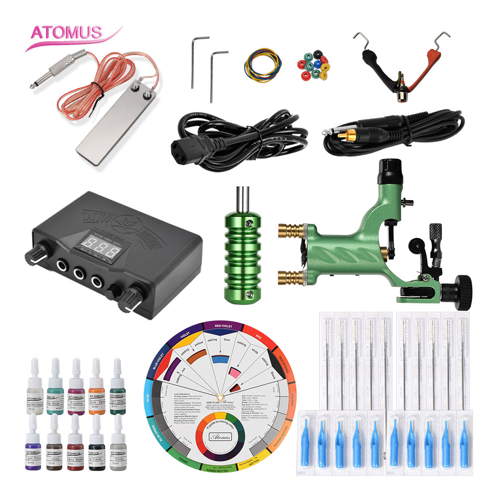 Tattoo Machine Rotary Tattoo Machine Pen Professional Complete Kit Set Pen Machine Complete Kit Liner Shader Gun Motor Pro KitsTattoo Machine Rotary Tattoo Machine Pen Professional Complete Kit Set Pen Machine Complete Kit Liner Shader Gun Motor Pro Kits