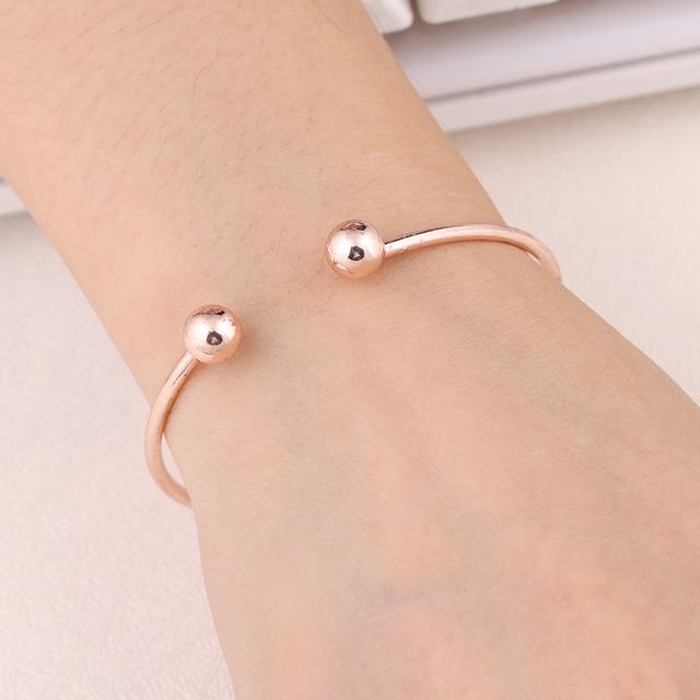 Adjustable Metal Cuff Bangle Bracelet