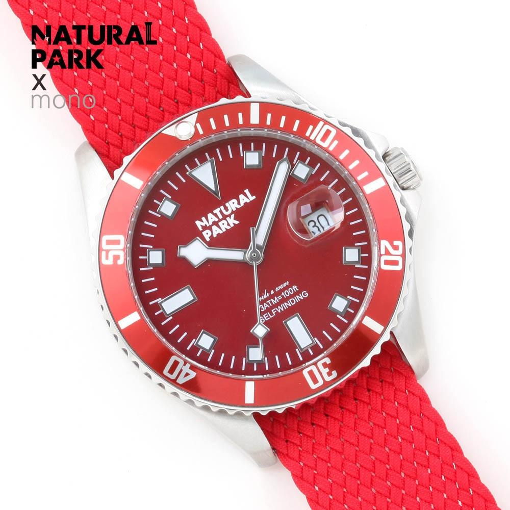 NATUURLIJKE PARK Luxe Merk Mannen Roestvrij Horloge mannen Quartz Klok Man Sport Waterdichte Horloges relogio masculino Kalender-in Quartz Horloges van Horloges op  Groep 1
