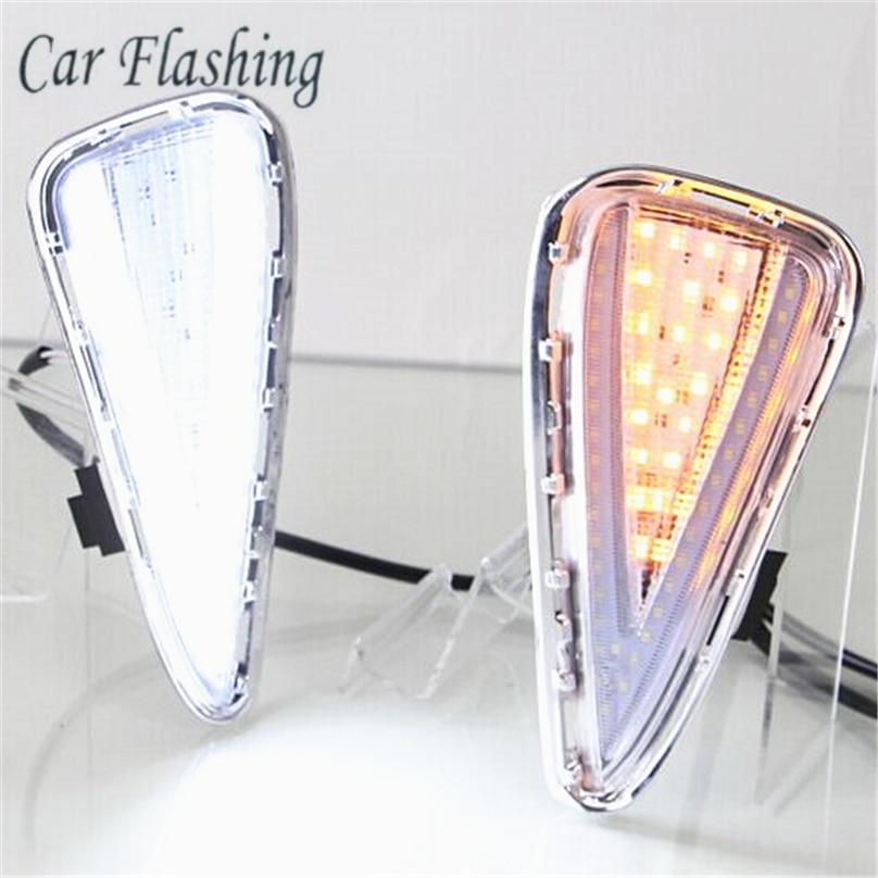Car Flashing 1set For Toyota Camry 2015 2016 2017 LED DRL Daytime Running Light DRL Daylight