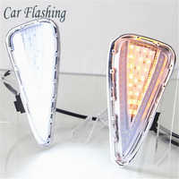 Car Flashing 1set For Toyota Camry 2015 2016 2017 LED DRL Daytime Running Light DRL Daylight Fog Lamp yellow signal lights