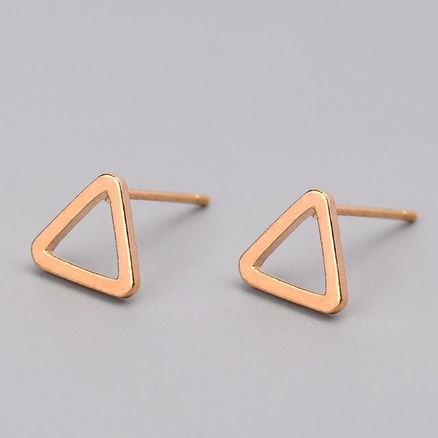 Trendy Hollow Triangle Round Square T Bar Shaped Alloy Stud Earrings For Women Sliver Gold Black.jpg 640x640 - Trendy Hollow Triangle Round Square T Bar Shaped Alloy Stud Earrings For Women Sliver Gold Black Ear Jewelry