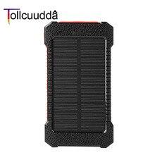 Tollcuudda Водонепроницаемый Солнечный Запасные Аккумуляторы для телефонов внешний Батарея ультра-тонкий Портативный Зарядное устройство Мощность Bank Солнечное Зарядное устройство для Xiaomi Iphone6s