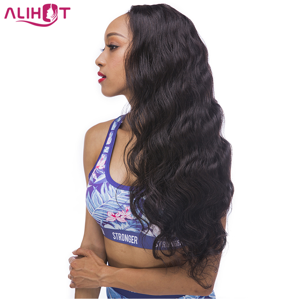 ALI HOT Body Wave Lace Front Human Hair Wigs With Baby Hair Brazilian Remy Hair Pre Plucked Lace Front Wigs Free Shipping