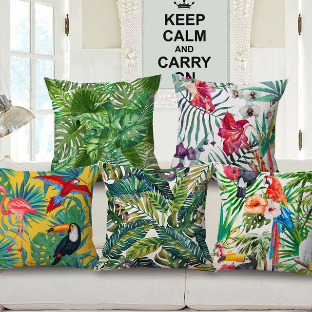 Moderne Kissen enipate tropische pflanze blume kissenbezug einfache kissenbezug