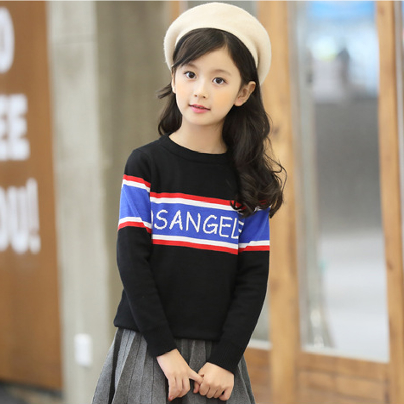 sweaters autumn fashion kids striped sweater for girls 2017 new winter sweater girl baby clothes fit 3 4 5 6 7 8 9 10 years winter girls clothes sweater for baby girl 5 6 7 8 9 years children knit long sleeve pullovers cotton plaid autumn tops teeanger