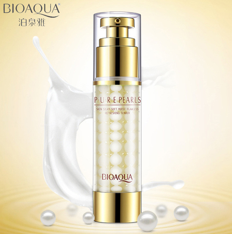 BIOAQUA Brand Pure Pearl Face Cream Moisturizing Facial Lotion Hyaluronic Acid Anti Wrinkle Whitening Essence Cream 60g