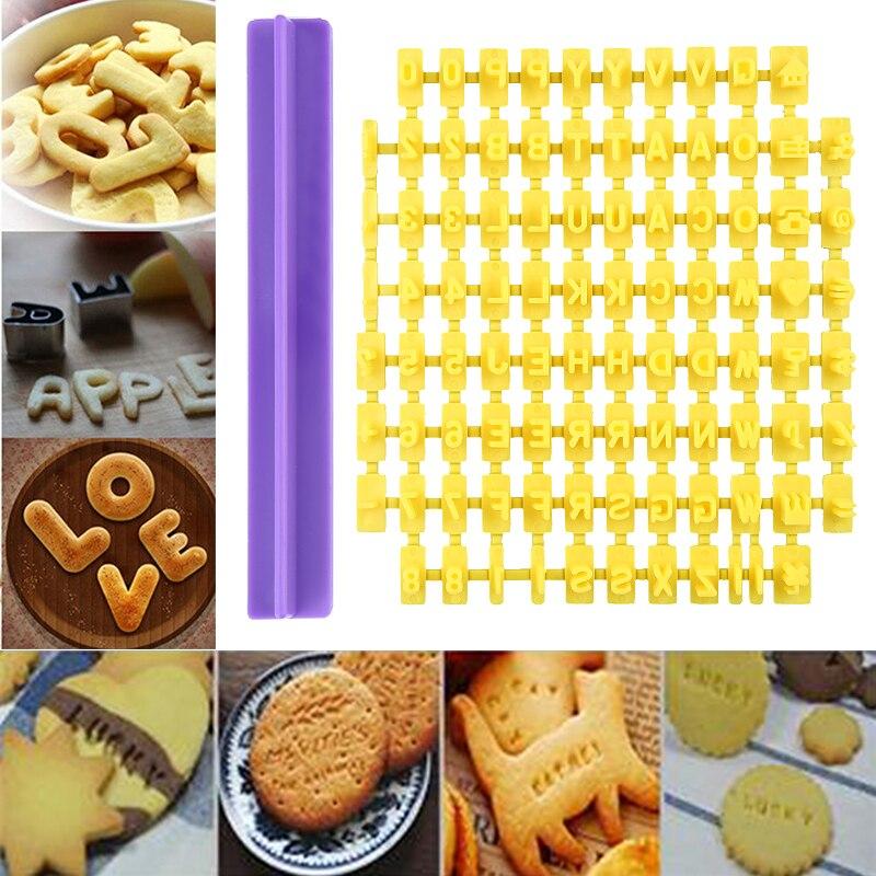 DIY Alphabet Letter Cake Mould Biscuit Cookie Cutter Press Stamp Embosser Mould