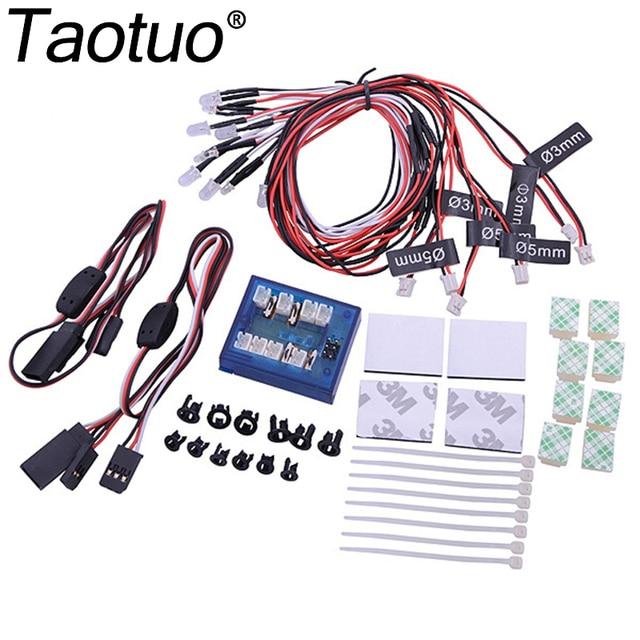 Taotuo No Soldering 12 LED RC Car Light Kit Models Flashing Head Lighting System 4 Colors