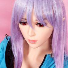 2017 new 11cm deepth oral sex doll head for 135cm doll or 170cm doll real lifelike head with wig