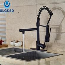 Ulgksd смеситель для кухни вытащить поток опрыскиватель прямые продажи с фабрики кухня глава кран горячей и холодной смесители