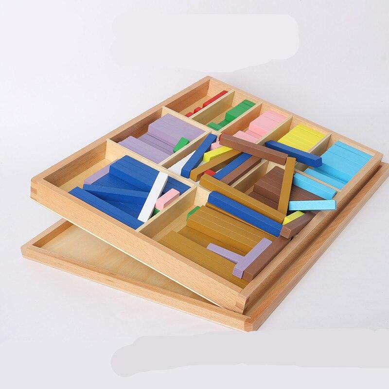 Nouveau bébé en bois jouets International Montessori nombre décimal blocs bébé jouets éducatifs