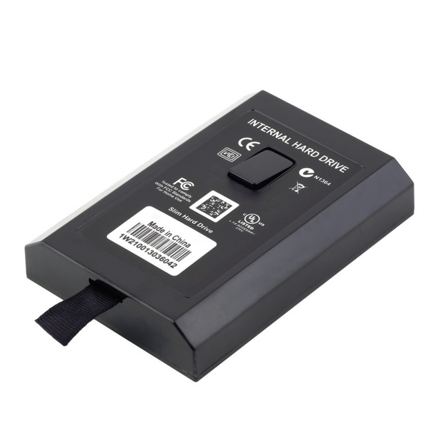 1 unids interior mundial caliente 320 gb hdd disco duro para microsoft para xbox 360 slim juegos recinto
