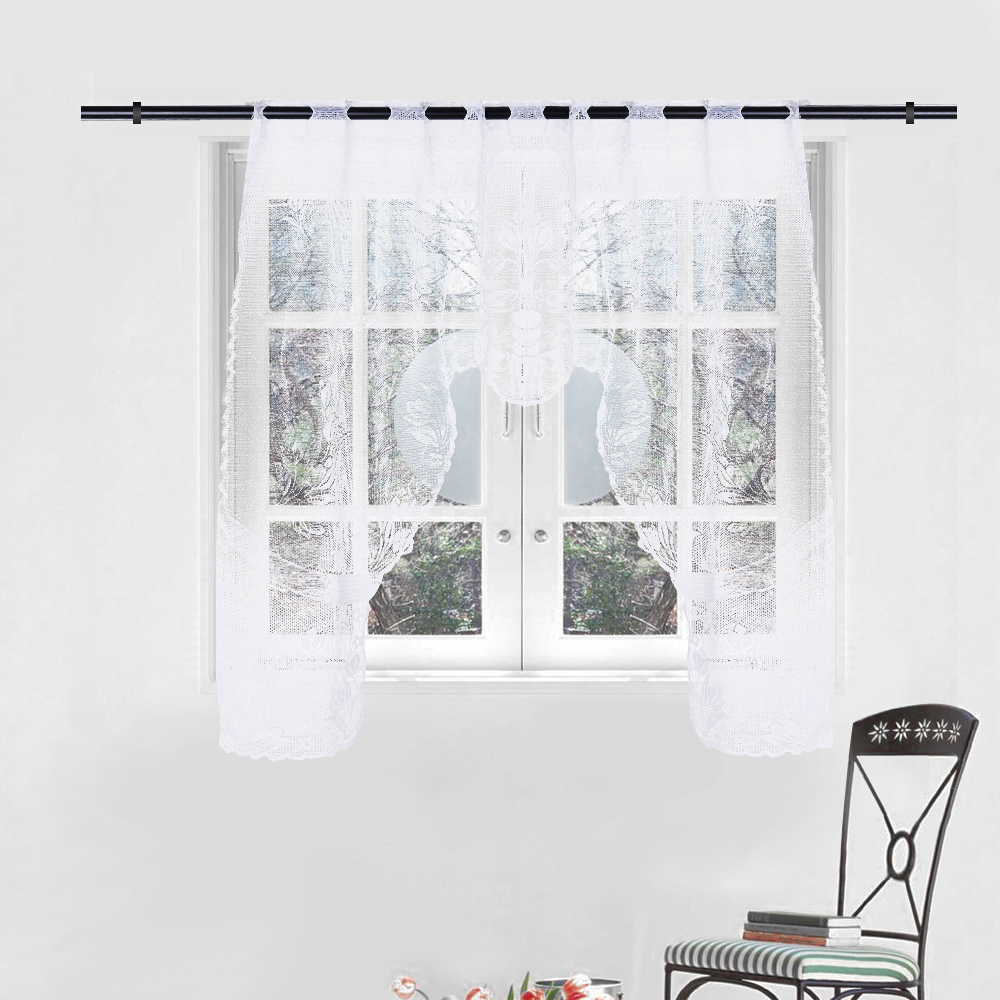2019 Hot Sell New Arrival Vintage Style Lace Coffee Curtain Kitchen Curtain Vintage Style Window Scarf Ation Home Decoration