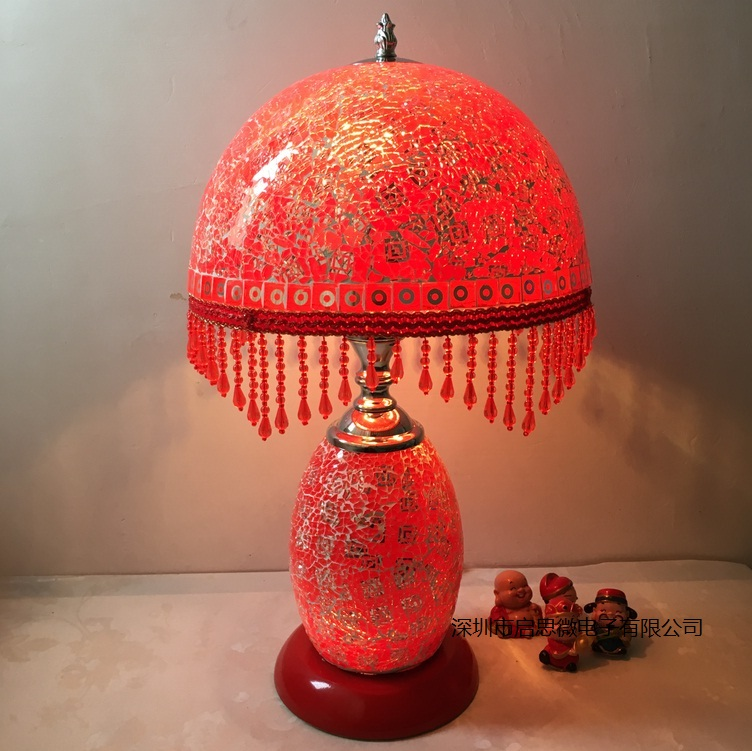 New Style Hand-inlaid glass mosaic bedroom living room decorative Table Lamps of Mediterranean style Turkish Lamps